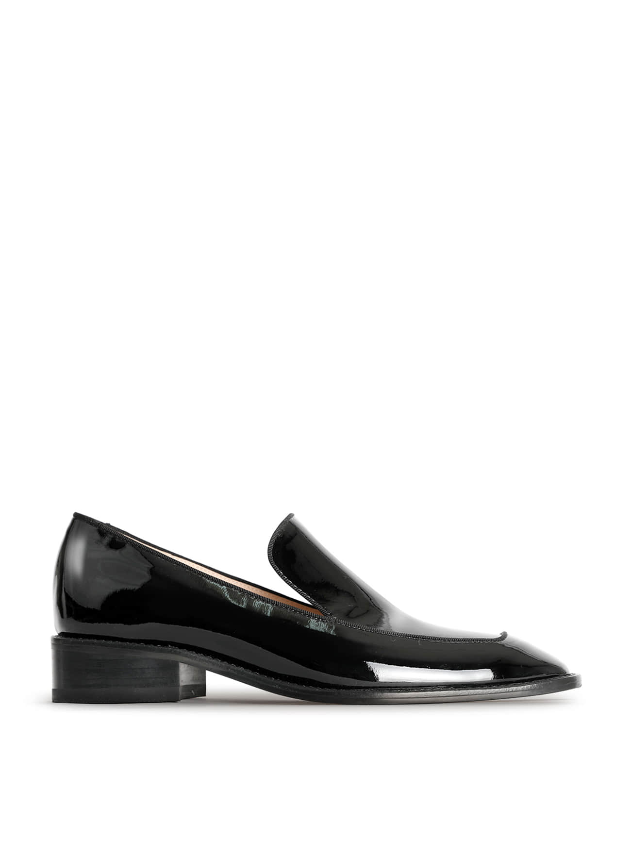 JACKSON PATENT-LEATHER LOAFERS - BLACK (3cm)