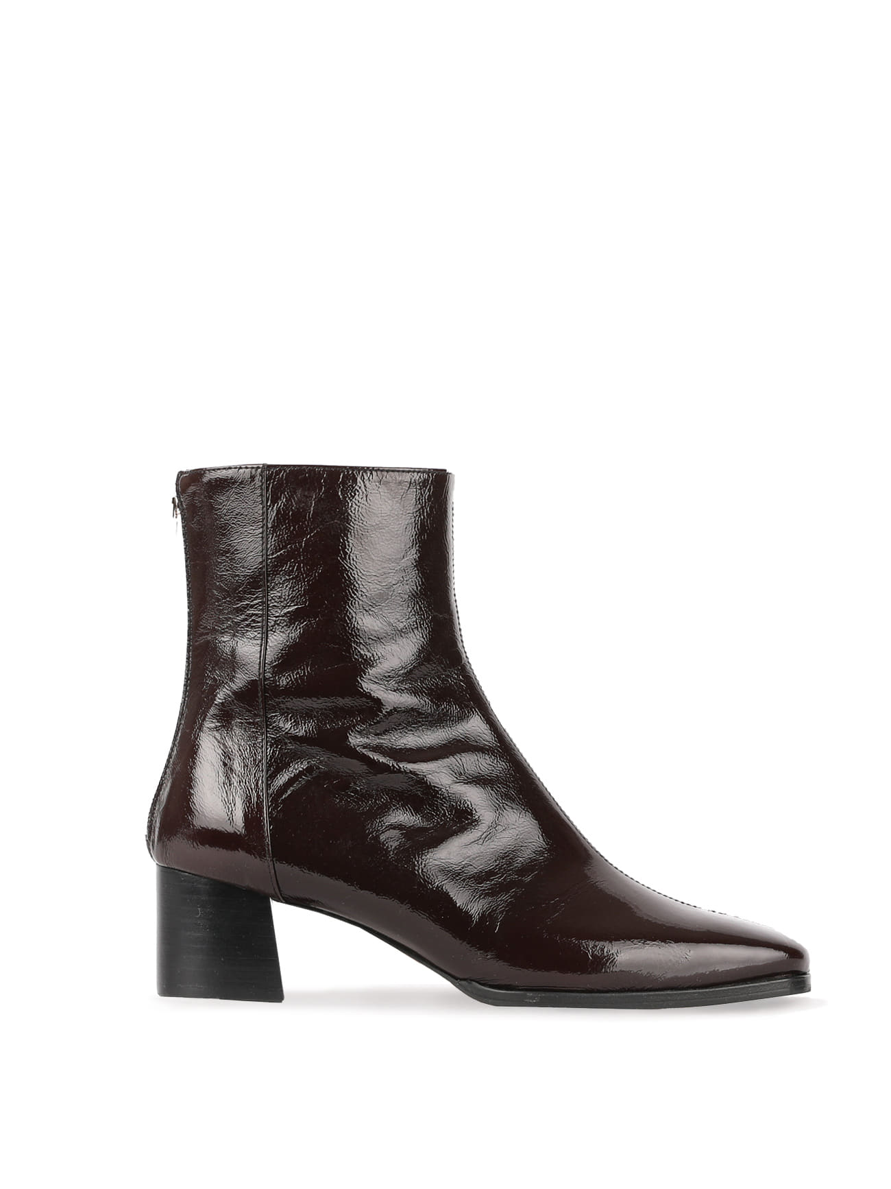 JAMES BLOCK-HEEL LEATHER ANKLE BOOTS (5cm) - CHOCO BROWN