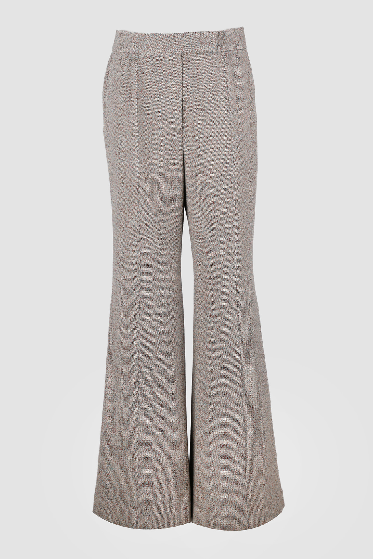 HIGH QUALITY LINE - Leda flared italy wool Trousers (TWEED)