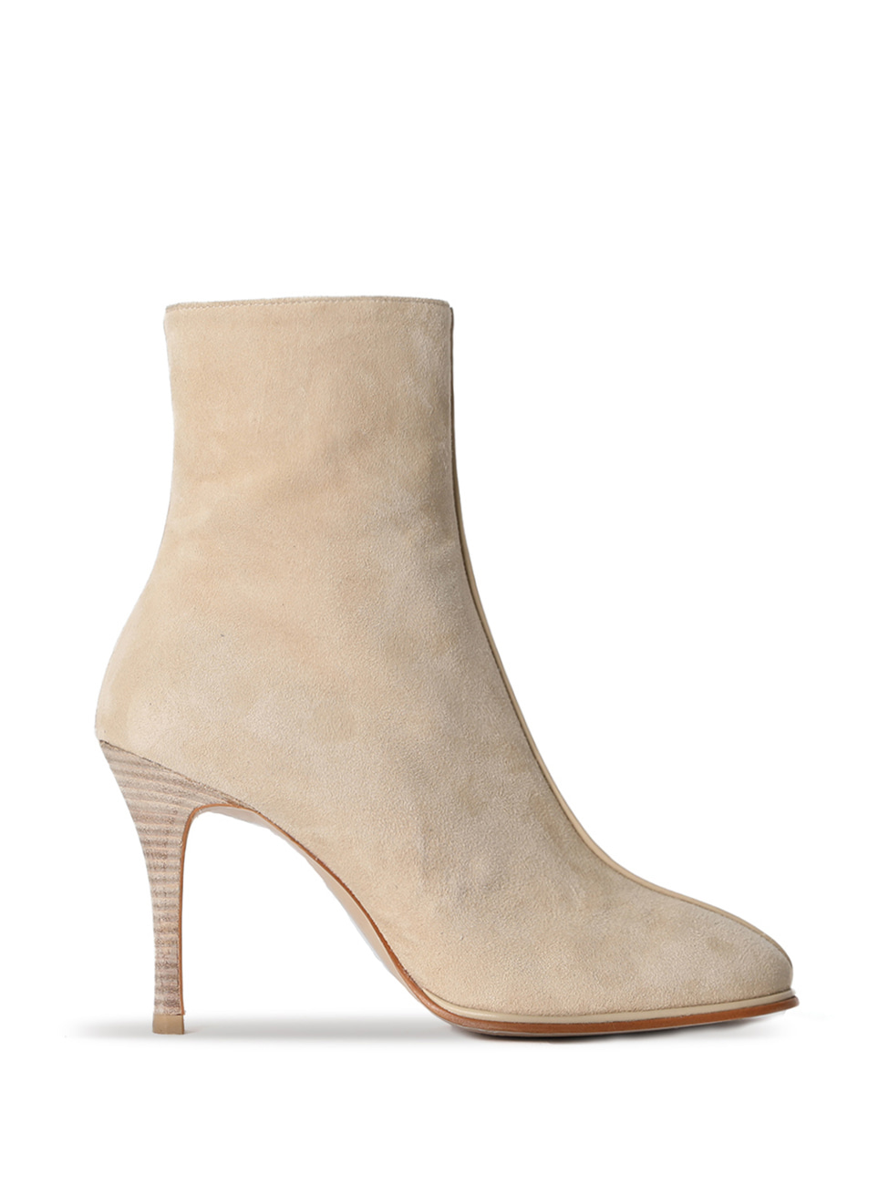 TEATIME SUEDE ANKLE BOOTS - BEIGE