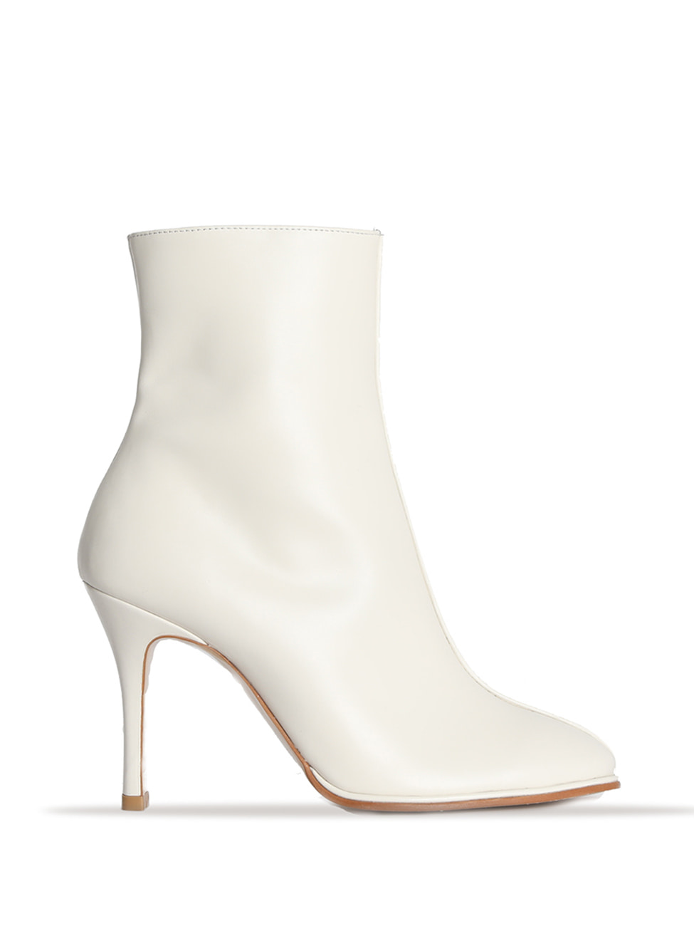 TEATIME LEATHER ANKLE BOOTS - IVORY