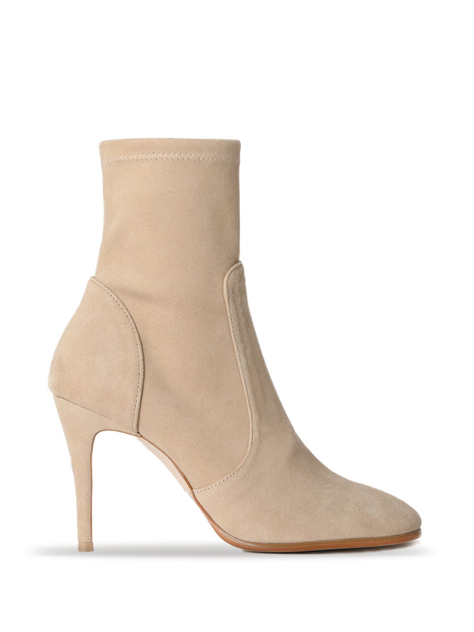 LINDA ROUND TOE ANKLE BOOTS - BEIGE
