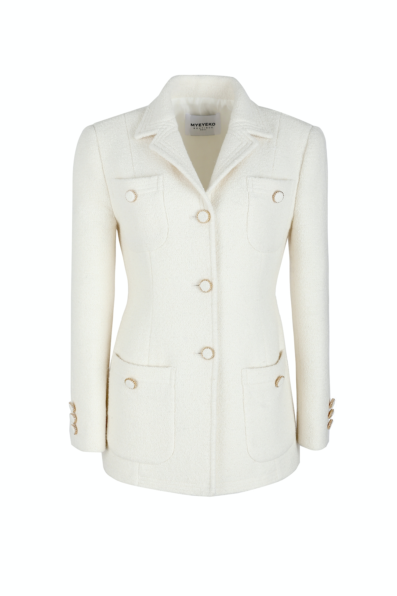 HIGH QUALITY LINE - IVORY Tweed Jacket (BY. japan fabric)