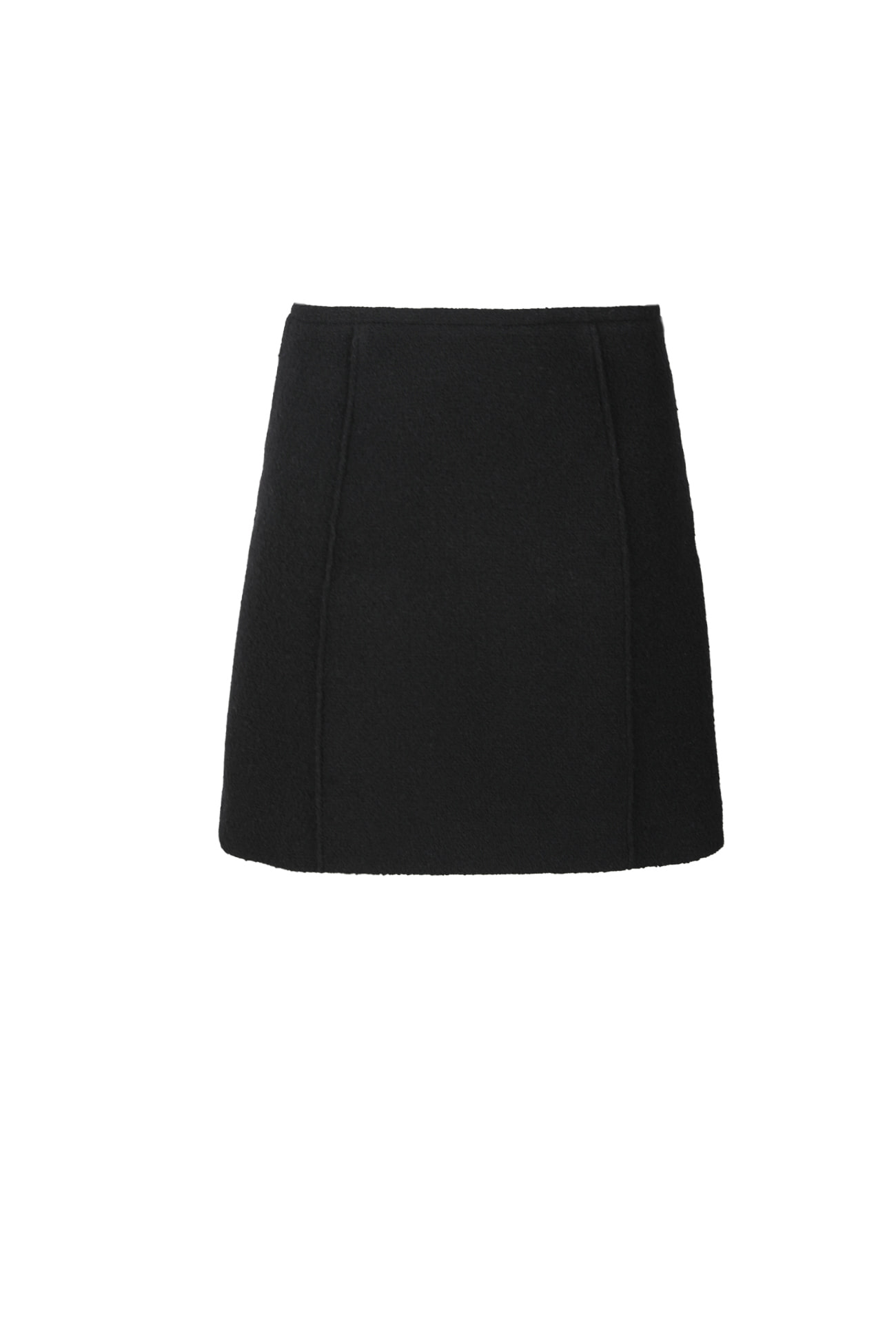 HIGH QUALITY LINE -BLACK Tweed Mini Skirt (BY. japan fabric)