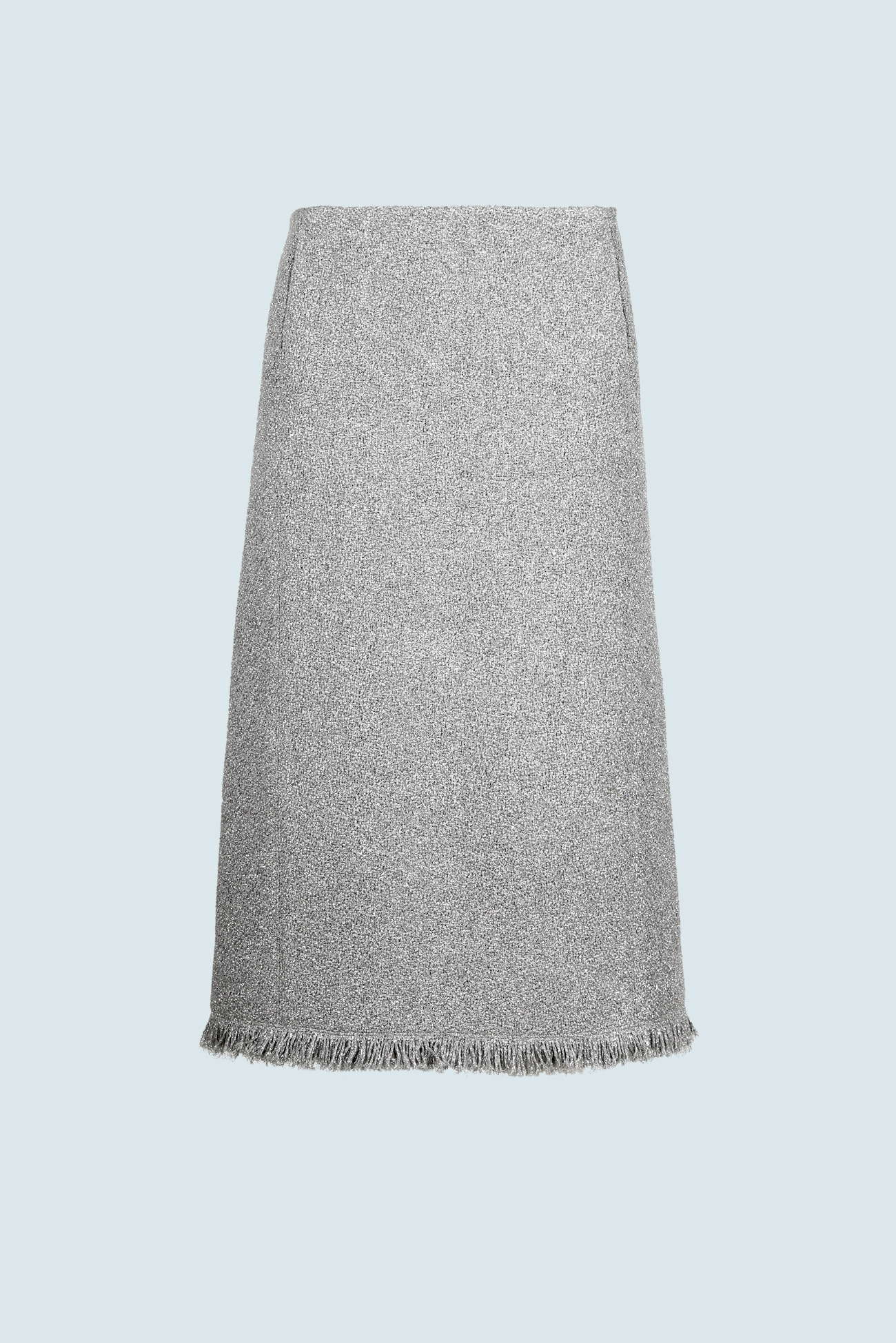 HIGH QUALITY LINE - SILVER SPECIAL TWEED SKIRT