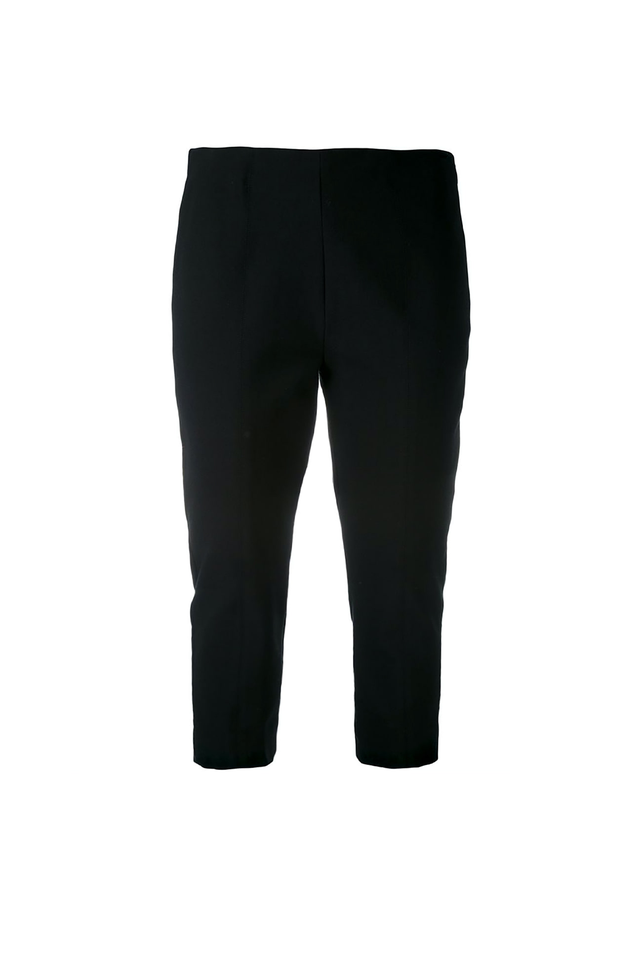 ESSENTIAL - BLACK cropped leg trousers